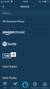 reproducir iTunes Music alexa
