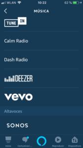 Cómo reproducir música en Amazon Echo menu
