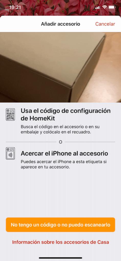 homekit Configuración del nuevo dispositivo